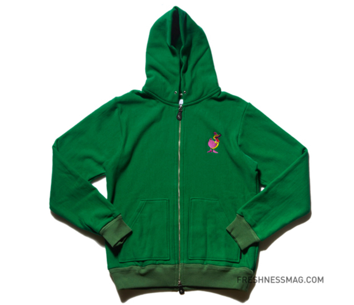 original-fake-duck-them-all-zip-up-hoodie-green