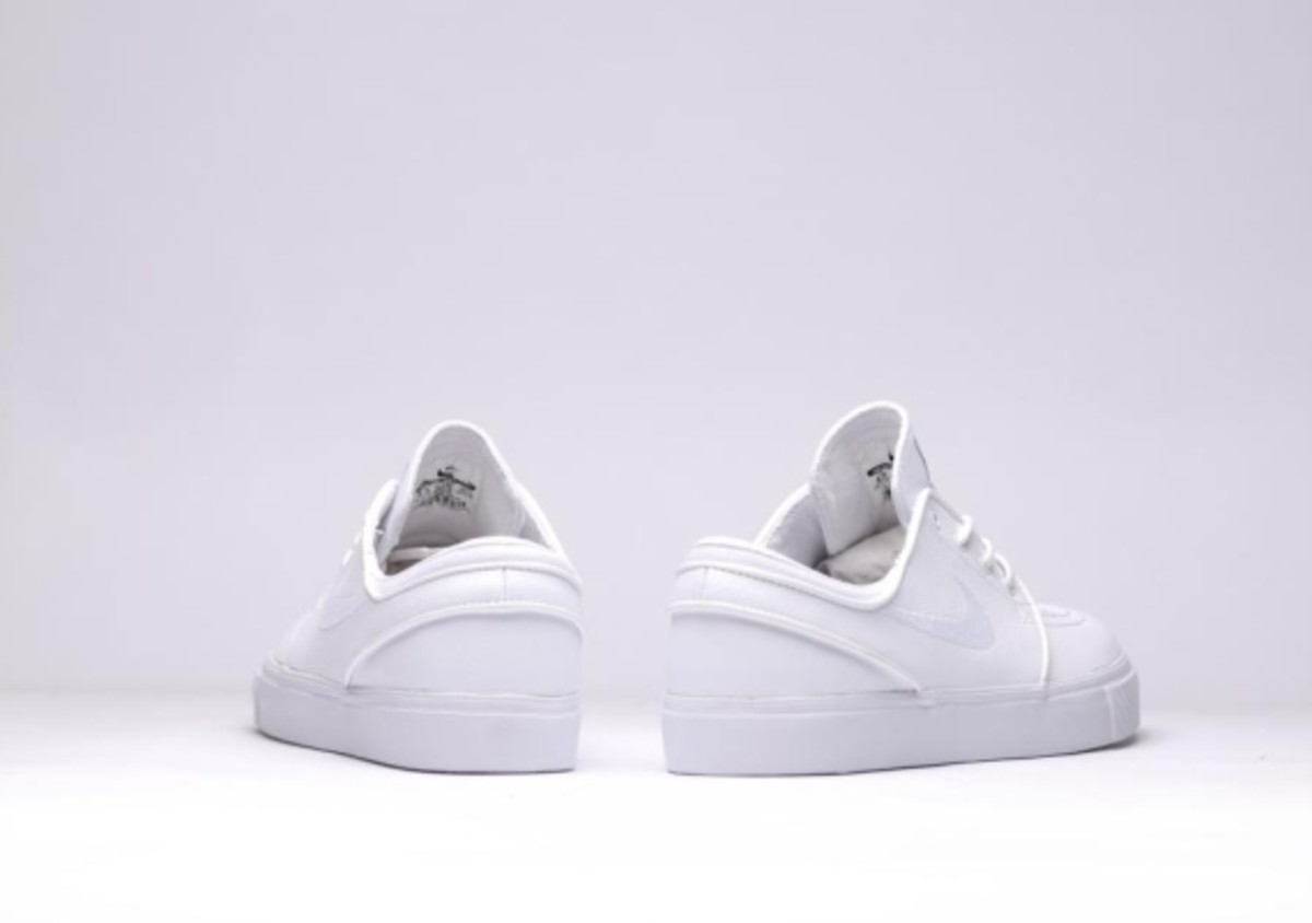 "1e2f043bc389 Nike SB Zoom Stefan Janoski Leather - ""All White Whiteout"" - 5"