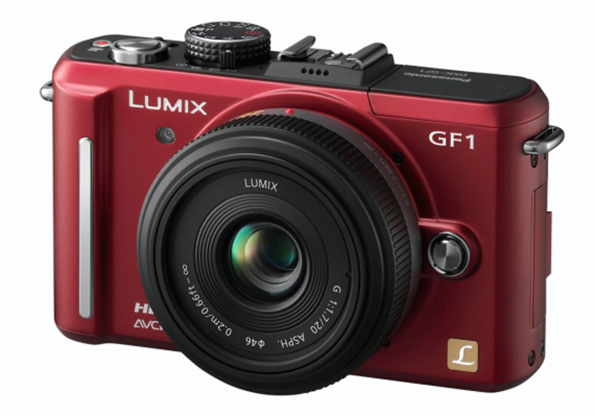 "Panasonic LUMIX DMC-GF1 Red w. 20mm f/1.7 ""Pancake"" Lens"