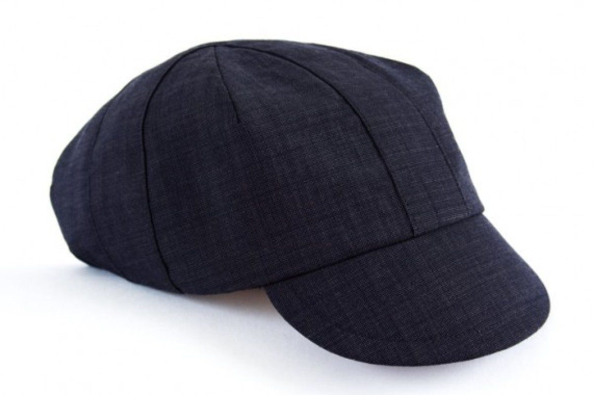 OUTLIER - Nailhead Worsted Wool Cyclist Cap (Navy)