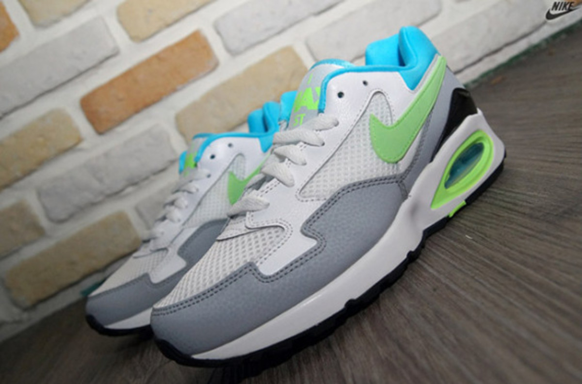 Nike Air Max ST - White/Clearwater/Flash Lime/Wolf Grey - 3