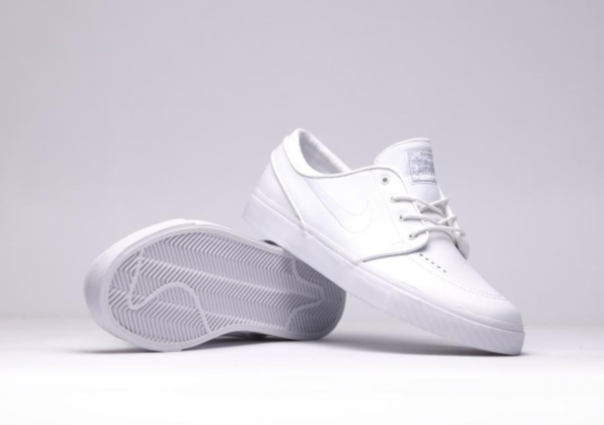 "630e458cb7d0 Nike SB Zoom Stefan Janoski Leather - ""All White Whiteout"" - 4"