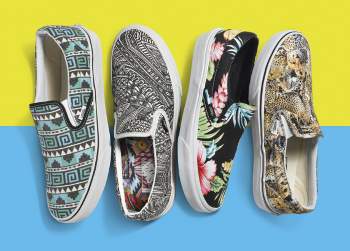 e138540ec102c7 Vans Classic Slip-Ons Spring 2015 Prints   Patterns Collection ...