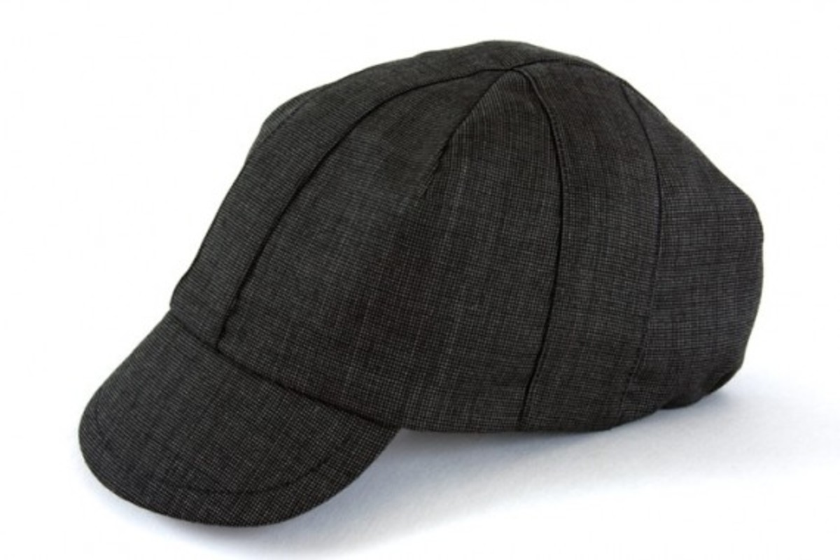 OUTLIER - Nailhead Worsted Wool Cyclist Cap (Black)