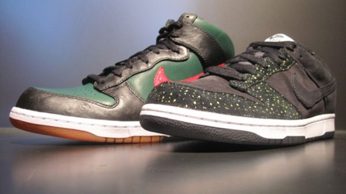 new style 768c0 fff2d Nike Dunk High Supreme Spark - Gucci + Dunk Low Black Yellow ...