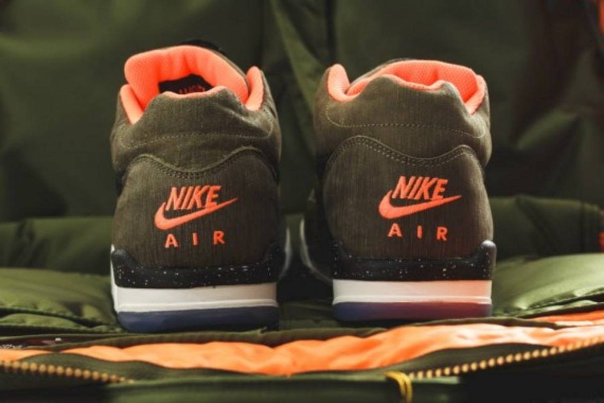 Nike Air Flight Squad Premium QS - Medium Olive/Orange-Black - 4