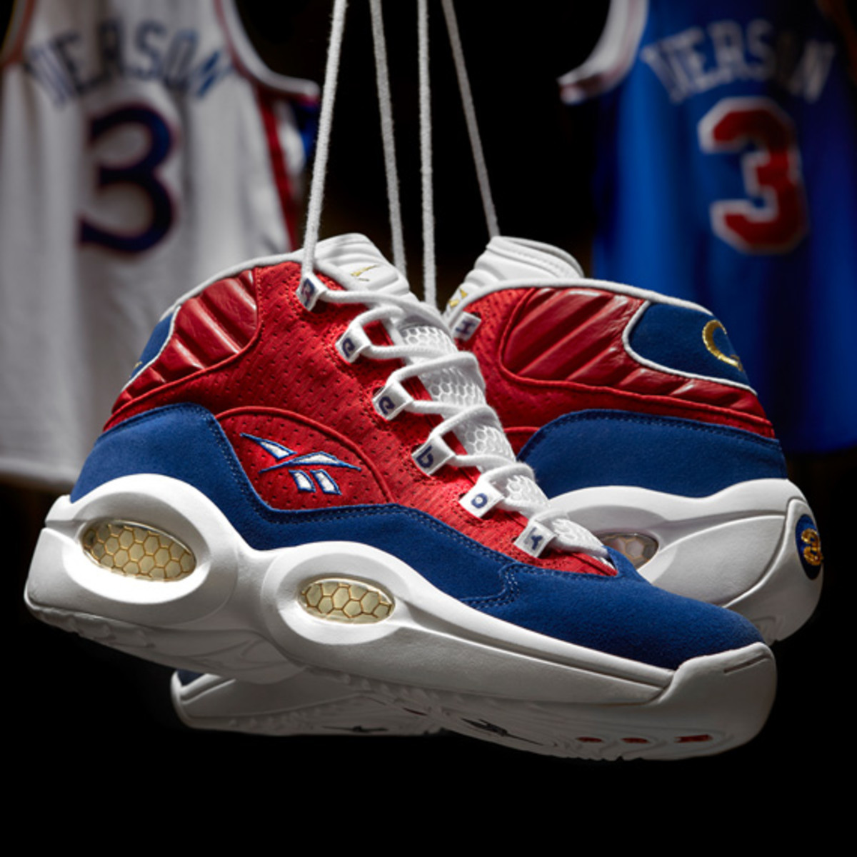a description of reebok shoe commercial featuring basketball star allen iverson All star game (featuring allen iverson and  for very own shoe keep.