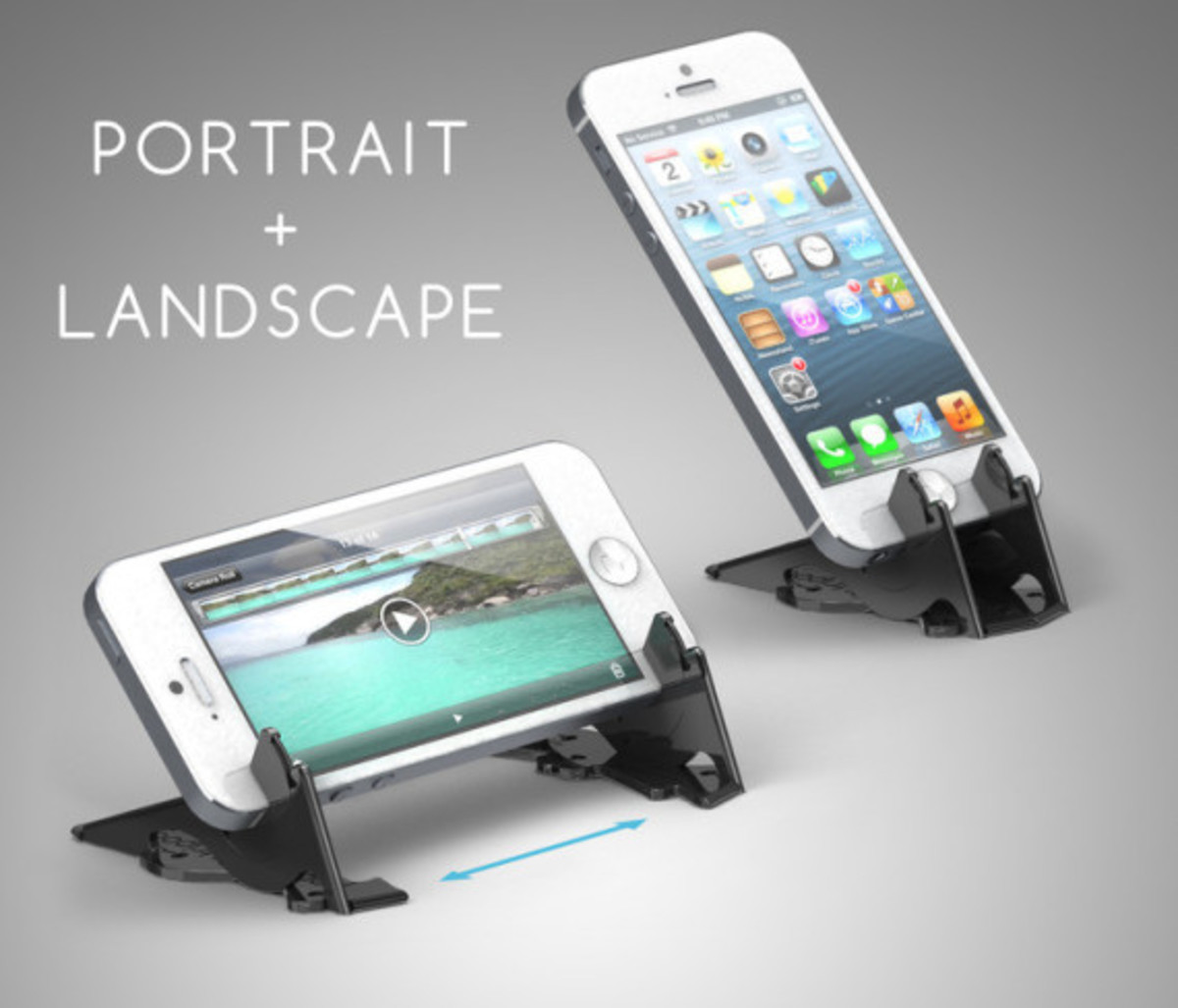 Pocket Tripod - Wallet-Sized Adjustable Stand for Apple iPhone - 2
