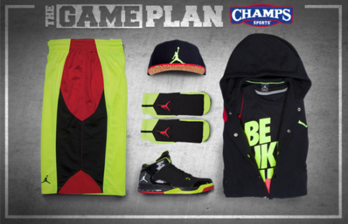 finest selection 0bbbf 27054 The Game Plan by Champs Sports - Jordan Fire Red Volt Collection