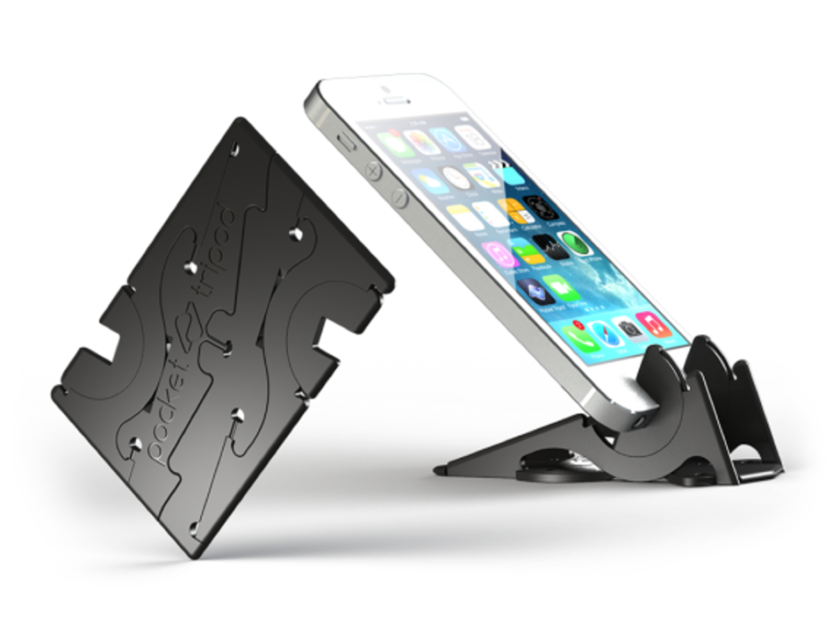 Pocket Tripod - Wallet-Sized Adjustable Stand for Apple iPhone - 0