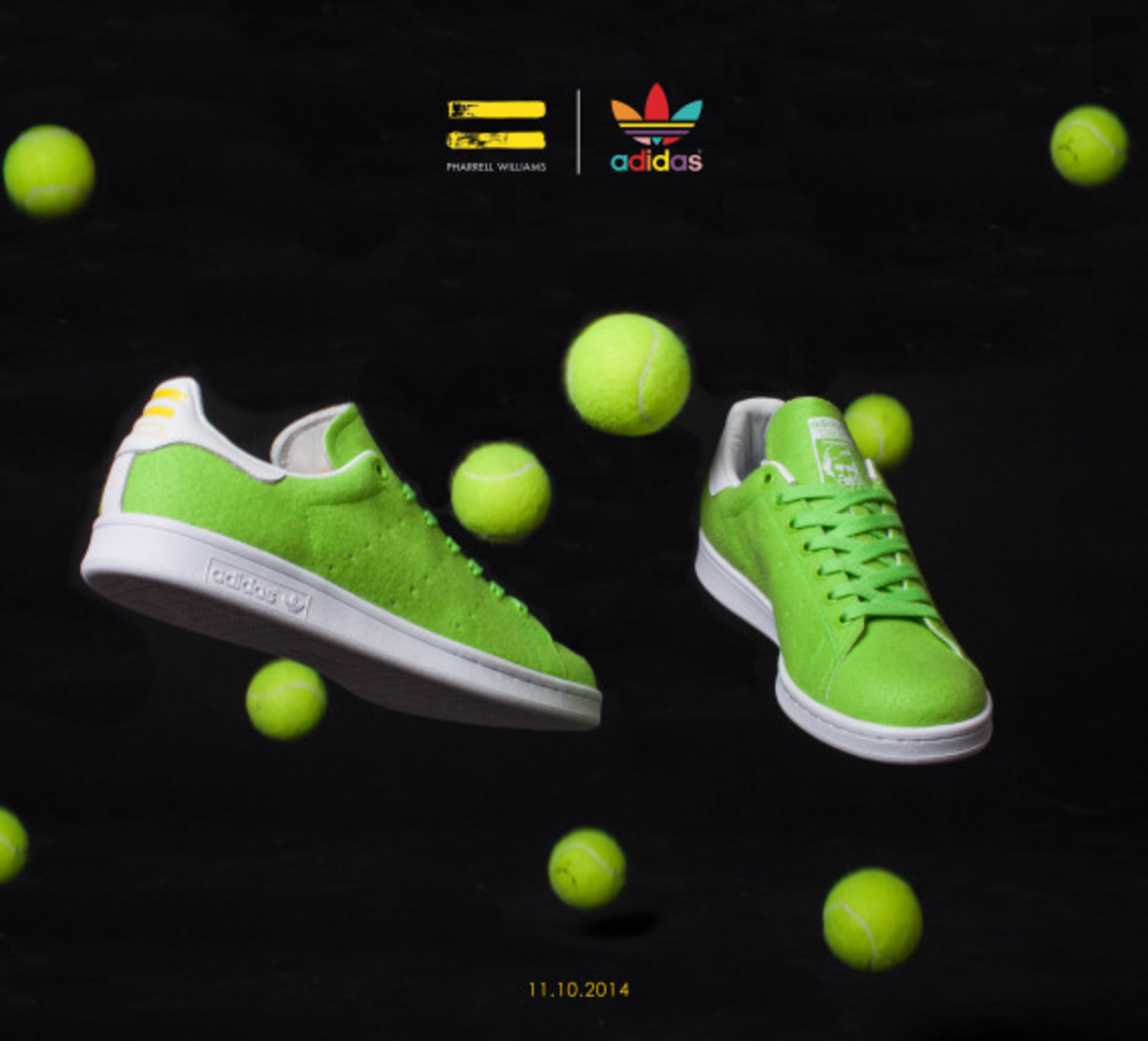 "Pharrell Williams x adidas Originals Stan Smith - ""Tennis"" Pack - 1"
