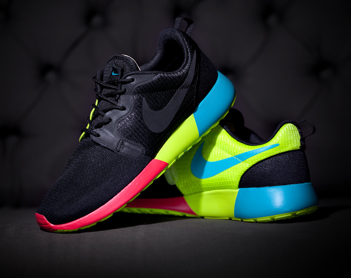 nike roshe run hyperfuse black rainbow available now freshness mag. Black Bedroom Furniture Sets. Home Design Ideas