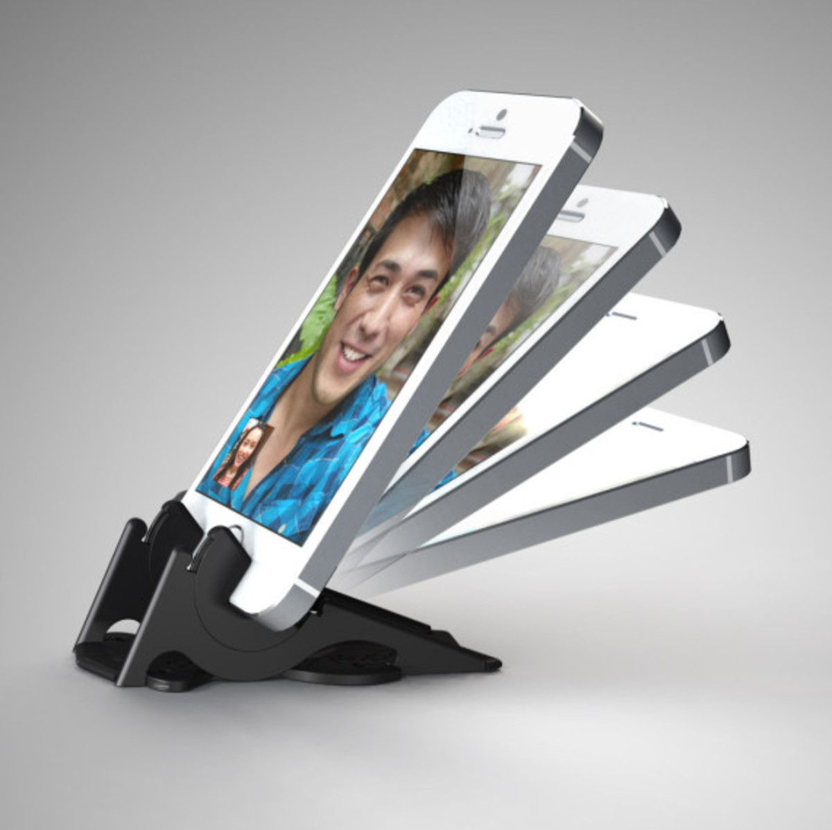 Pocket Tripod - Wallet-Sized Adjustable Stand for Apple iPhone - 5