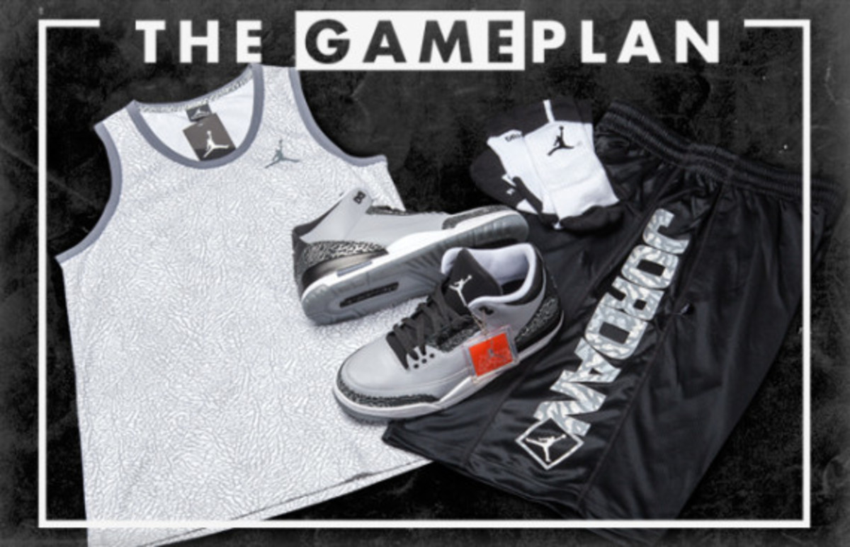 the latest 869a0 9b912 ... reduced the game plan by champs sports air jordan 3 wolf grey  collection a9380 80407