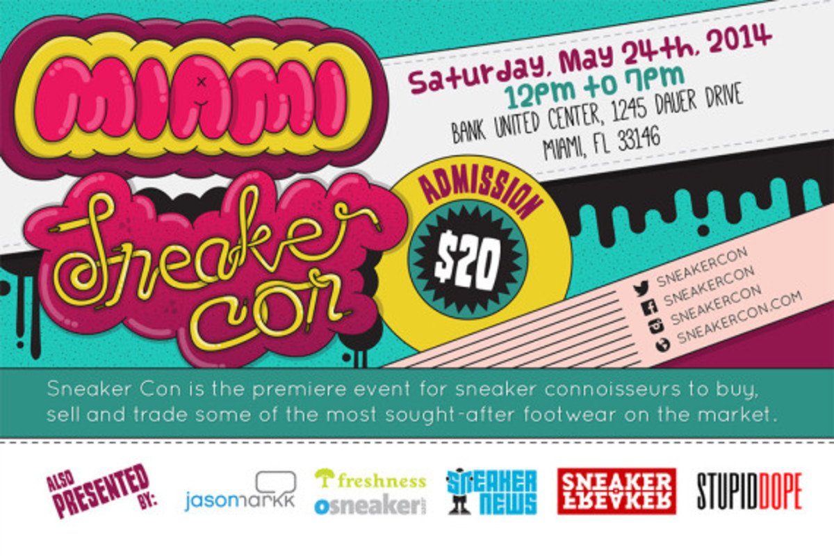 Sneaker Con Miami – May 23rd, 2014 | Event Reminder - 2