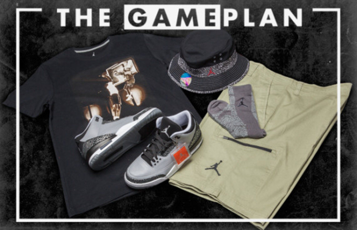 "The Game Plan by Champs Sports - Air Jordan 3 ""Wolf Grey"" Collection - 3"