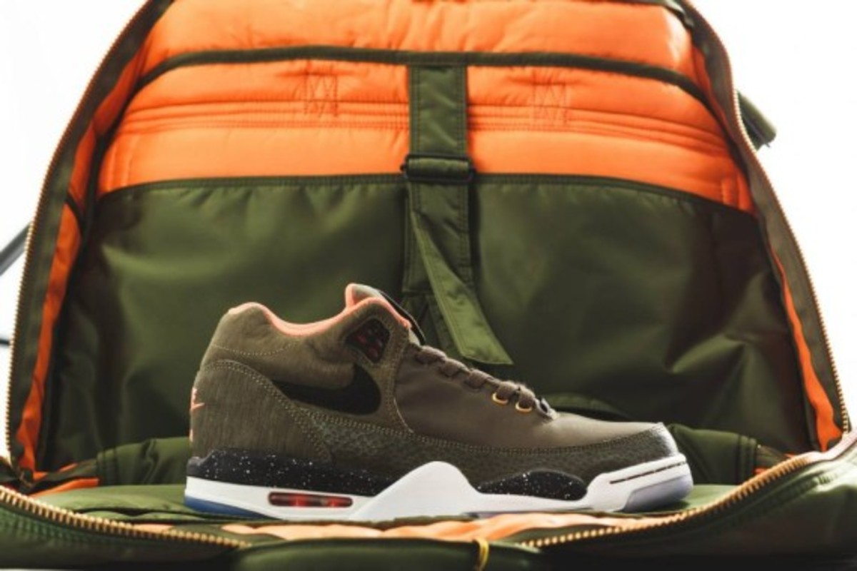 Nike Air Flight Squad Premium QS - Medium Olive/Orange-Black - 1