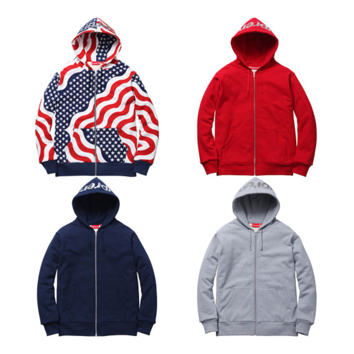 Supreme 3M Reflective Logo Thermal Zip-Up Hoodies | Available Now - 0