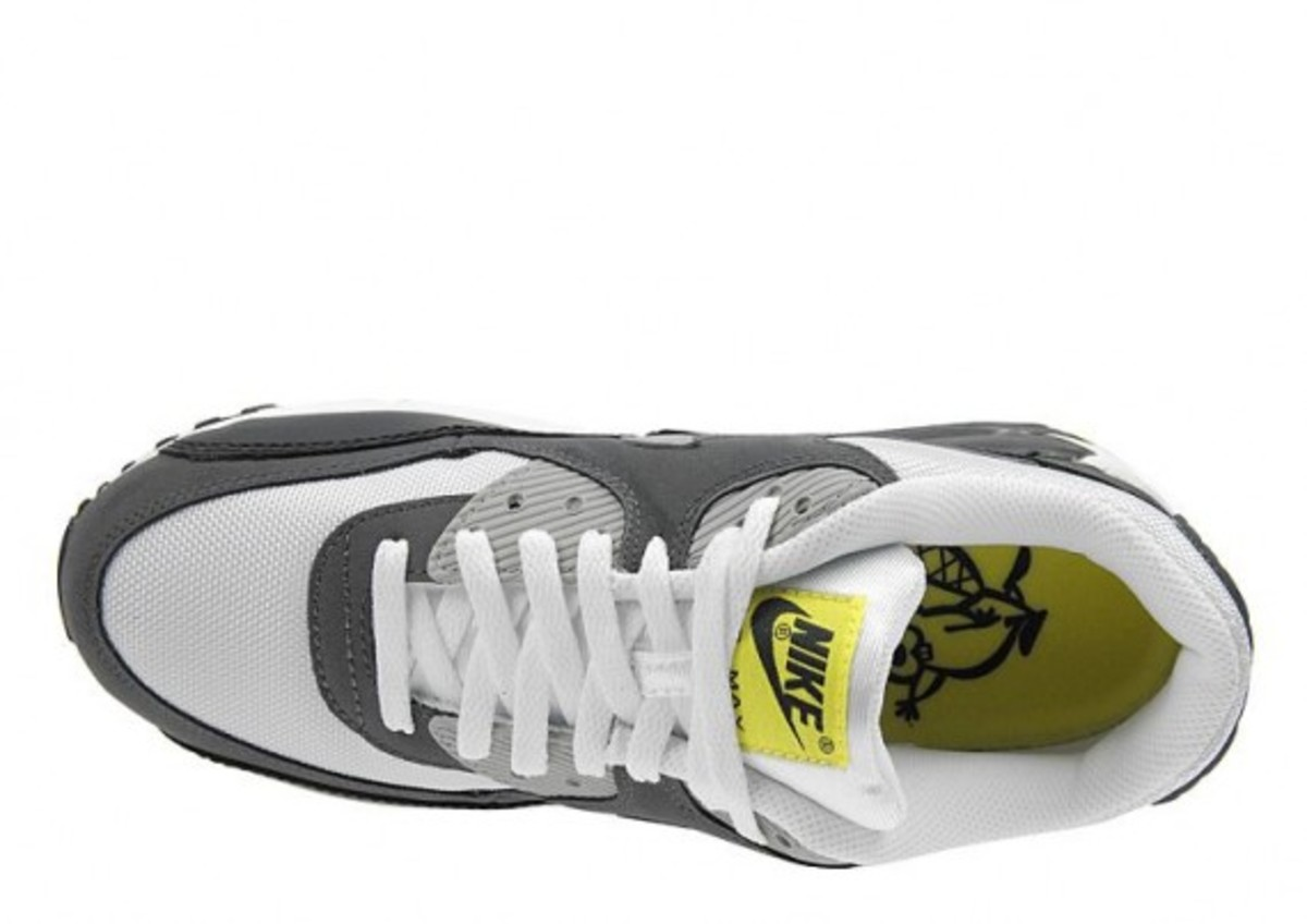 new styles 7b981 6d3a7 Nike Air Max 90 - White/Grey/Yellow | JD Sports Exclusive ...