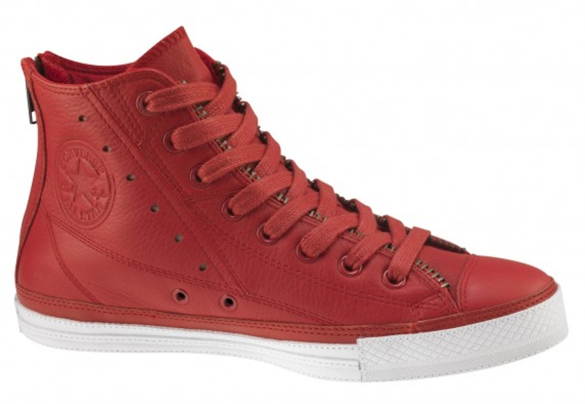 competitive price 9953a 06191 Converse PRODUCT(RED) - Leather Jacket Chuck Taylor All-Star Hi   Available  Now