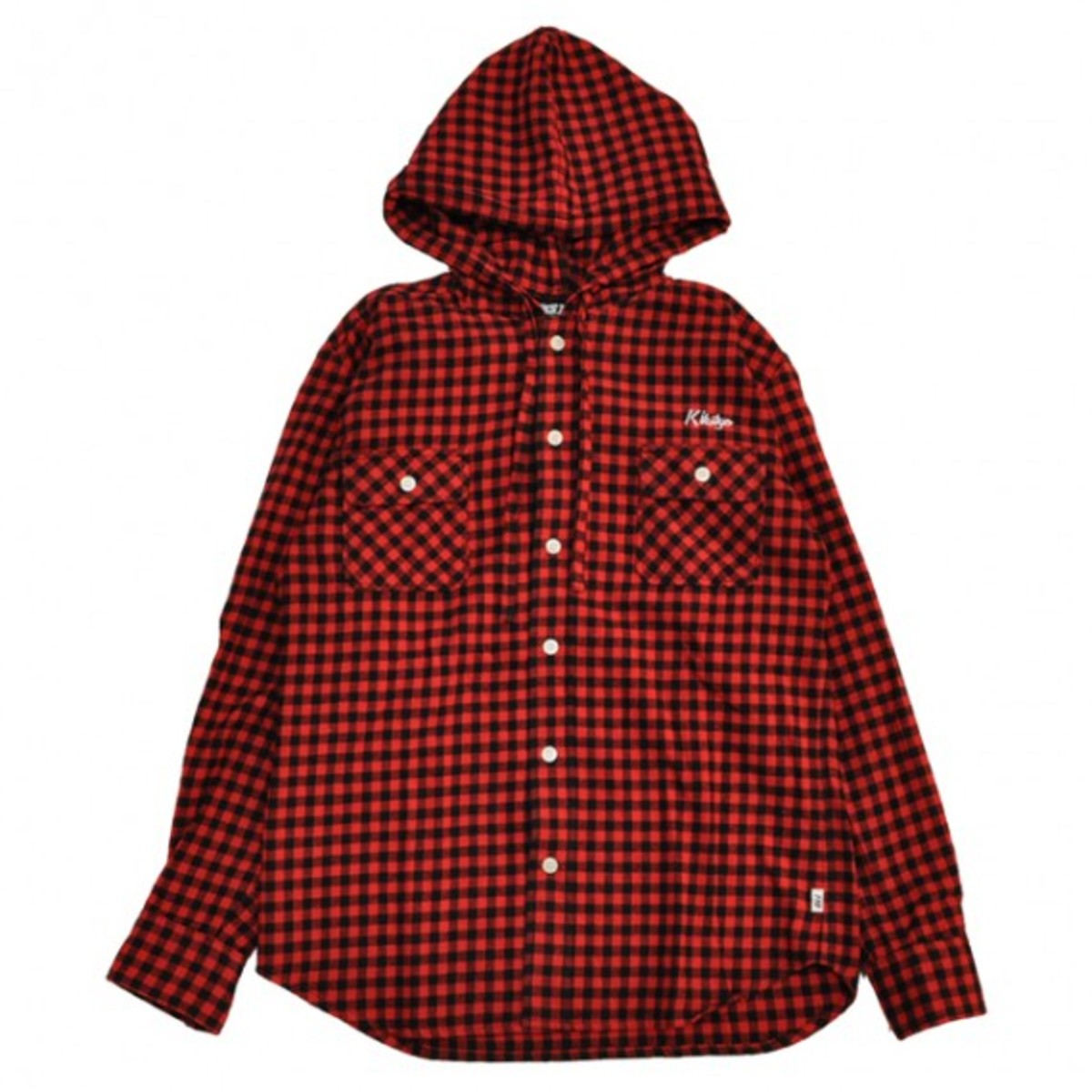 buffalo-check-hooded-shirt-red