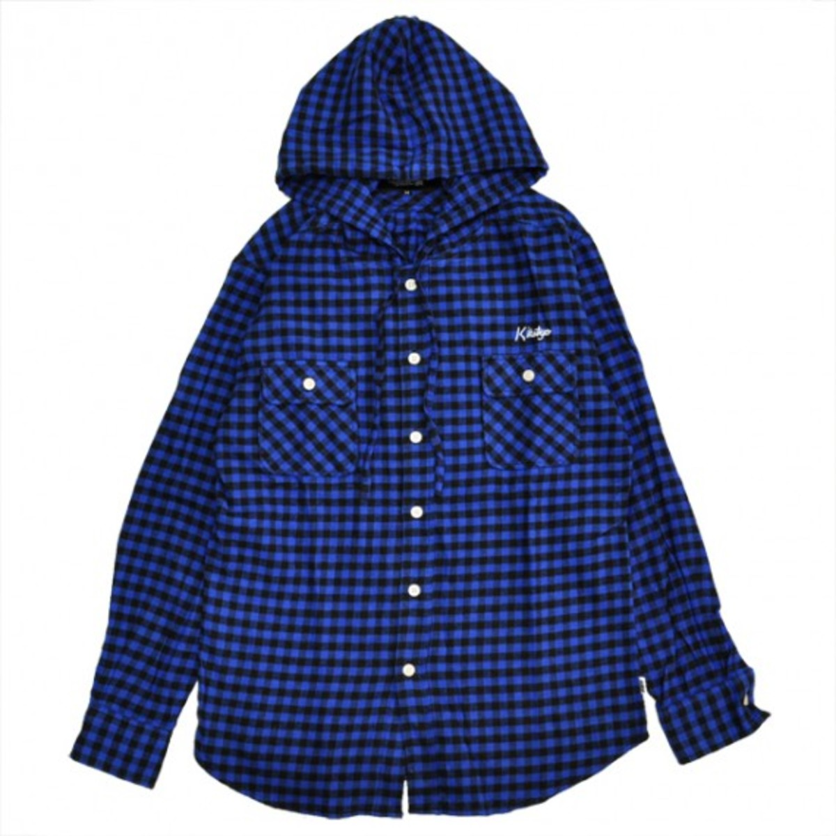 buffalo-check-hooded-shirt-blue