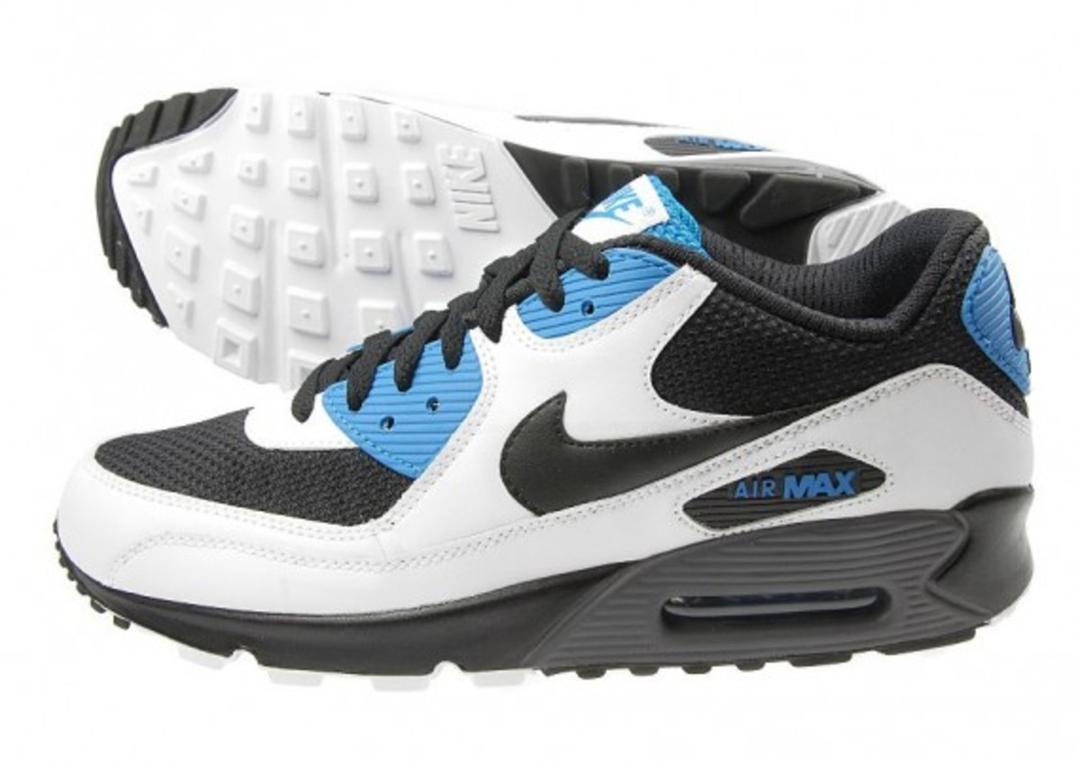 factory authentic 91a0d 8e302 Nike Air Max 90 - JD Exclusive - White/Black/Blue ...