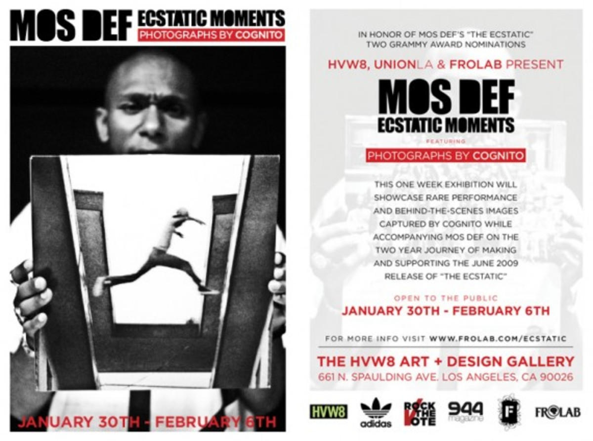 Mos Def - Ecstatic Moments Exhibition + T-Shirt - Freshness Mag 336023494