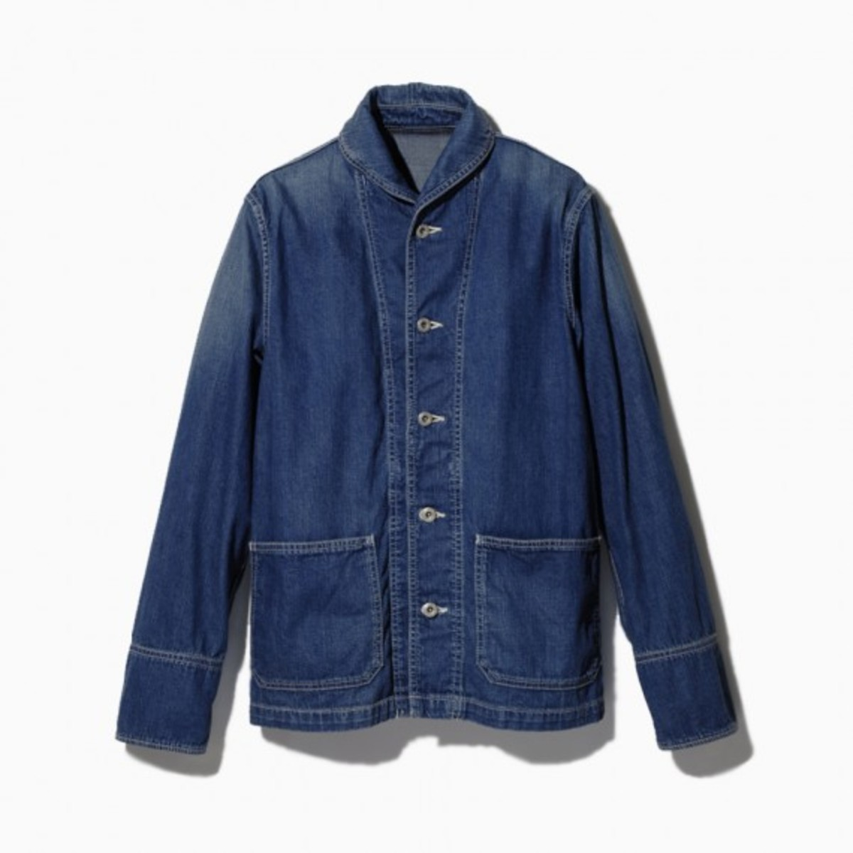 light-ounce-denim-damaged-shawl-collar-cover-all