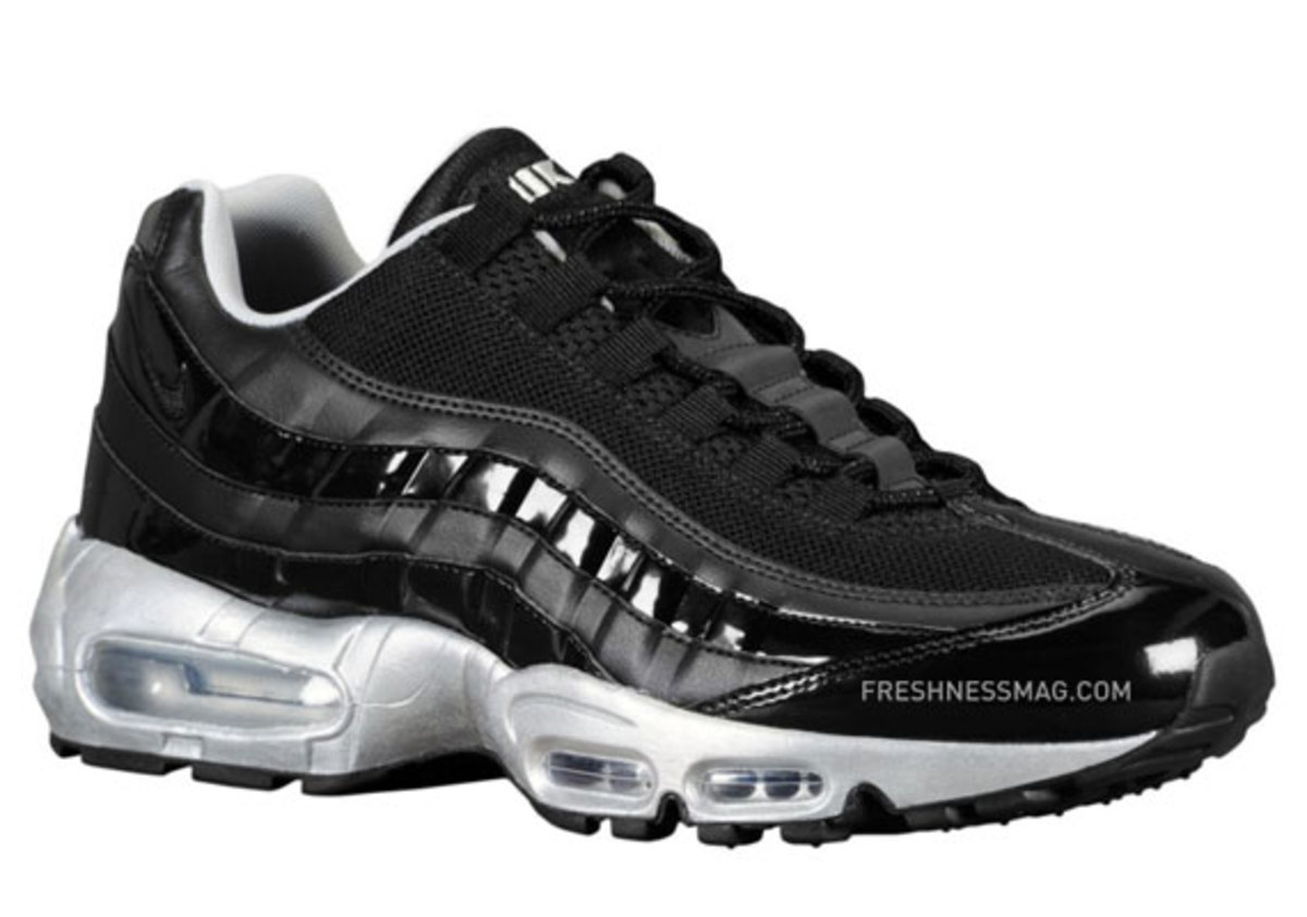 black and silver air max 95 Stock Up On