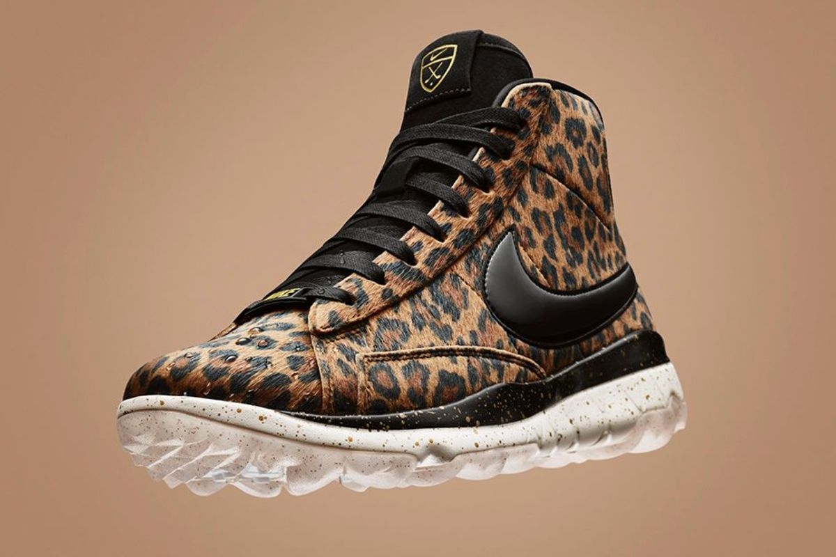 the leopardprint nike blazer golf shoe is available now