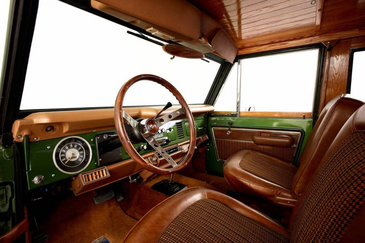 ford bronco   restored  real wood paneling freshness mag