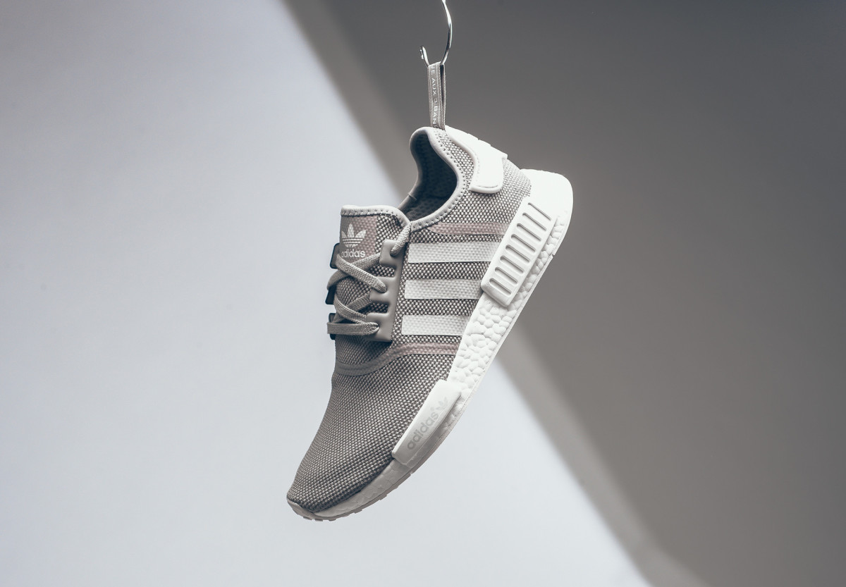 adidas NMD R1 Olive Wool Heel with Black Boost