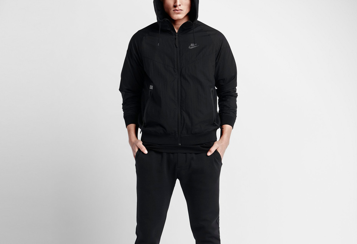best service bf8e9 11186 NikeLab   Dover Street Market Team Up on an All-Black Windrunner ...