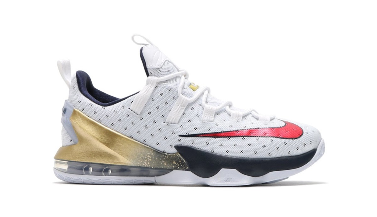 pretty nice 21e82 7cd50 The LeBron 13 Low Dons the Red, White, and Blue for 2016 Olympics ...