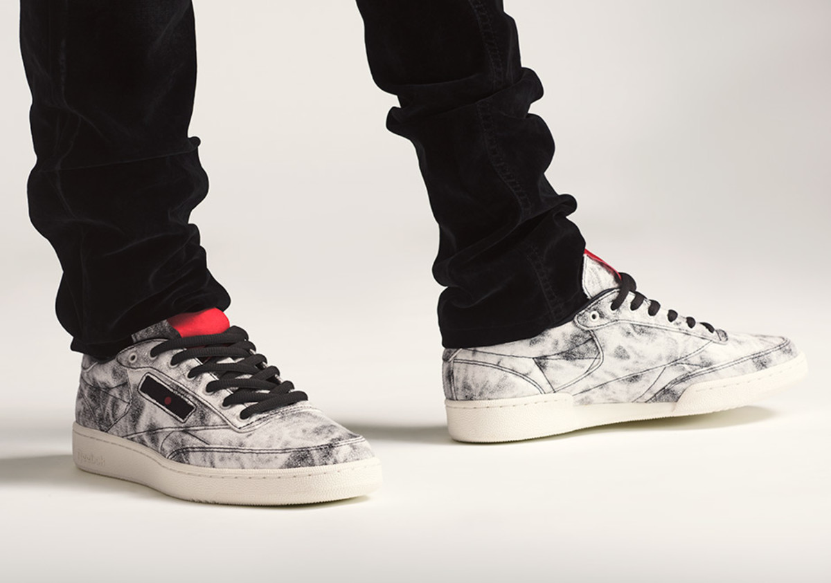 27a405449b93d Kendrick Lamar Gives the Reebok Club C an Acid Washed Denim Makeover ...