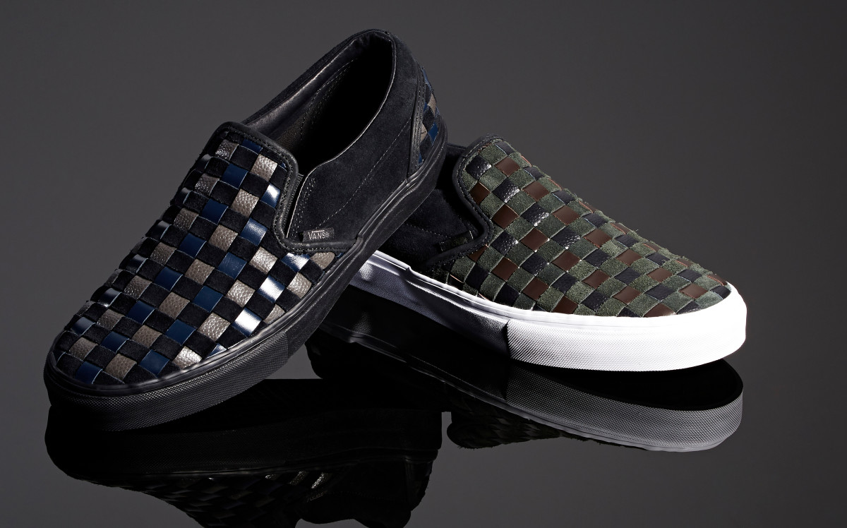 7c4156152b6f Barneys Teams Up With Vans on Woven Leather   Suede Slip-Ons ...
