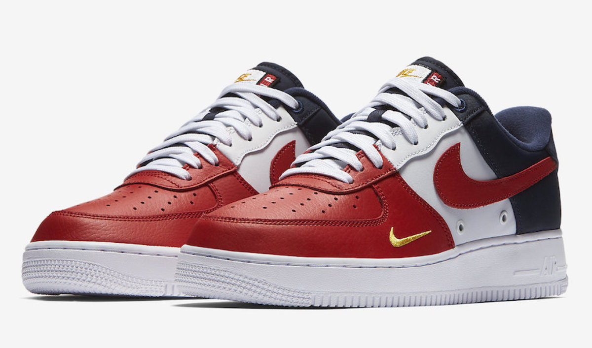 this patriotic nike air force 1 is graced with a mini. Black Bedroom Furniture Sets. Home Design Ideas