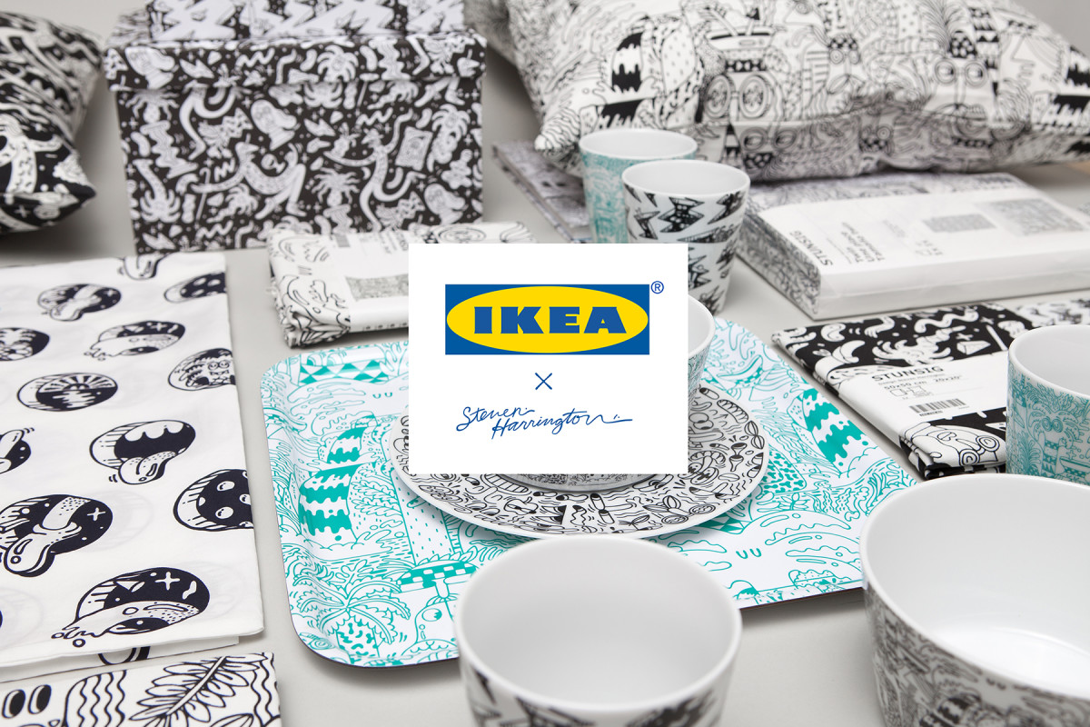 Artist Steven Harrington Launches New Collection for IKEA