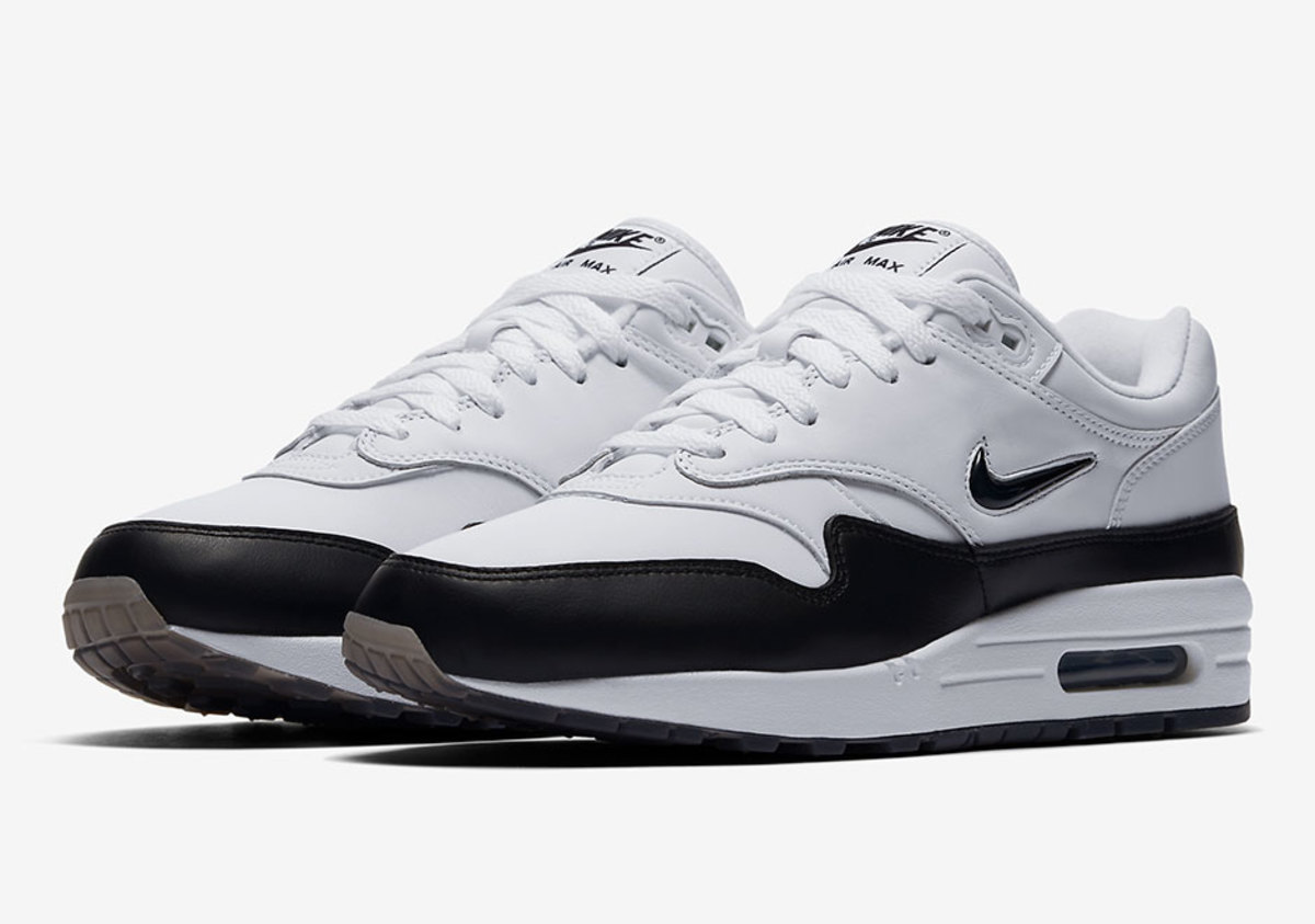 the nike air max 1 jewel is releasing in a simple white. Black Bedroom Furniture Sets. Home Design Ideas
