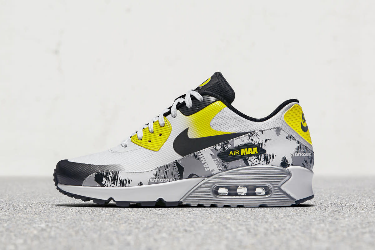 this nike air max 90 ultra 2 0 features graphics created by doernbecher designers freshness mag. Black Bedroom Furniture Sets. Home Design Ideas