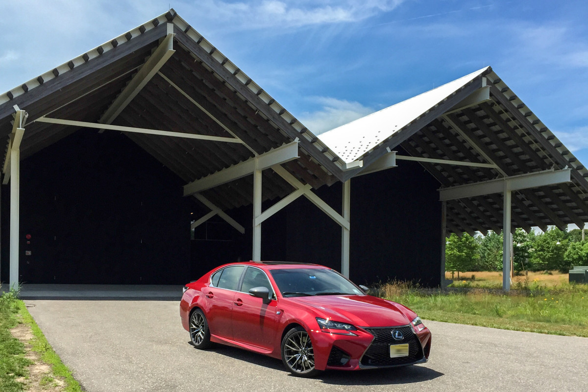 Lexus GS-F at Parrish Art Museum