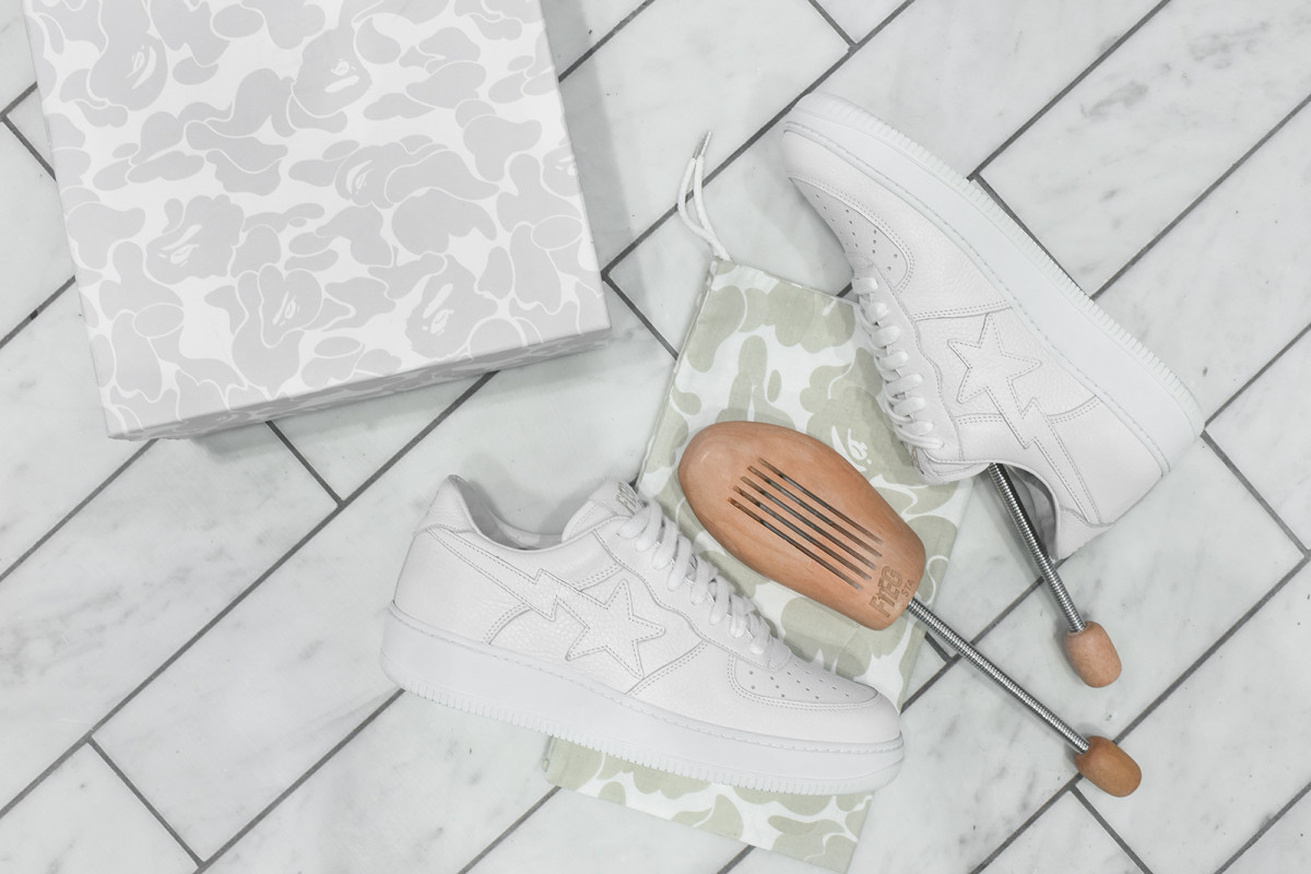 60c11ba77a00 A Detailed Look at the Ronnie Fieg x A BATHING APE Bapesta ...