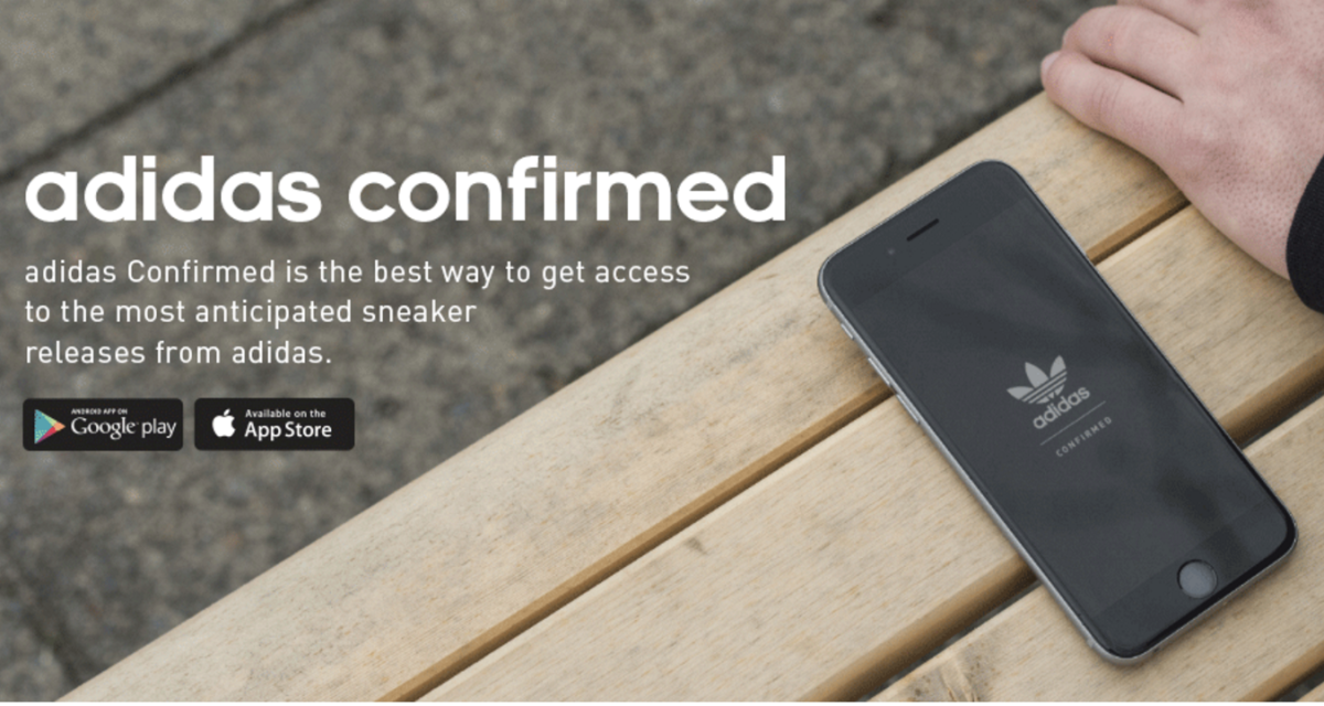 the best attitude 8b658 3f12a ADIDAS CONFIRMED APP