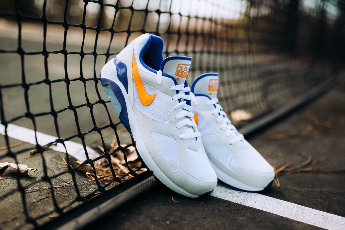 Nike Air Max 180 White Green Blue · Fresh sneakers and