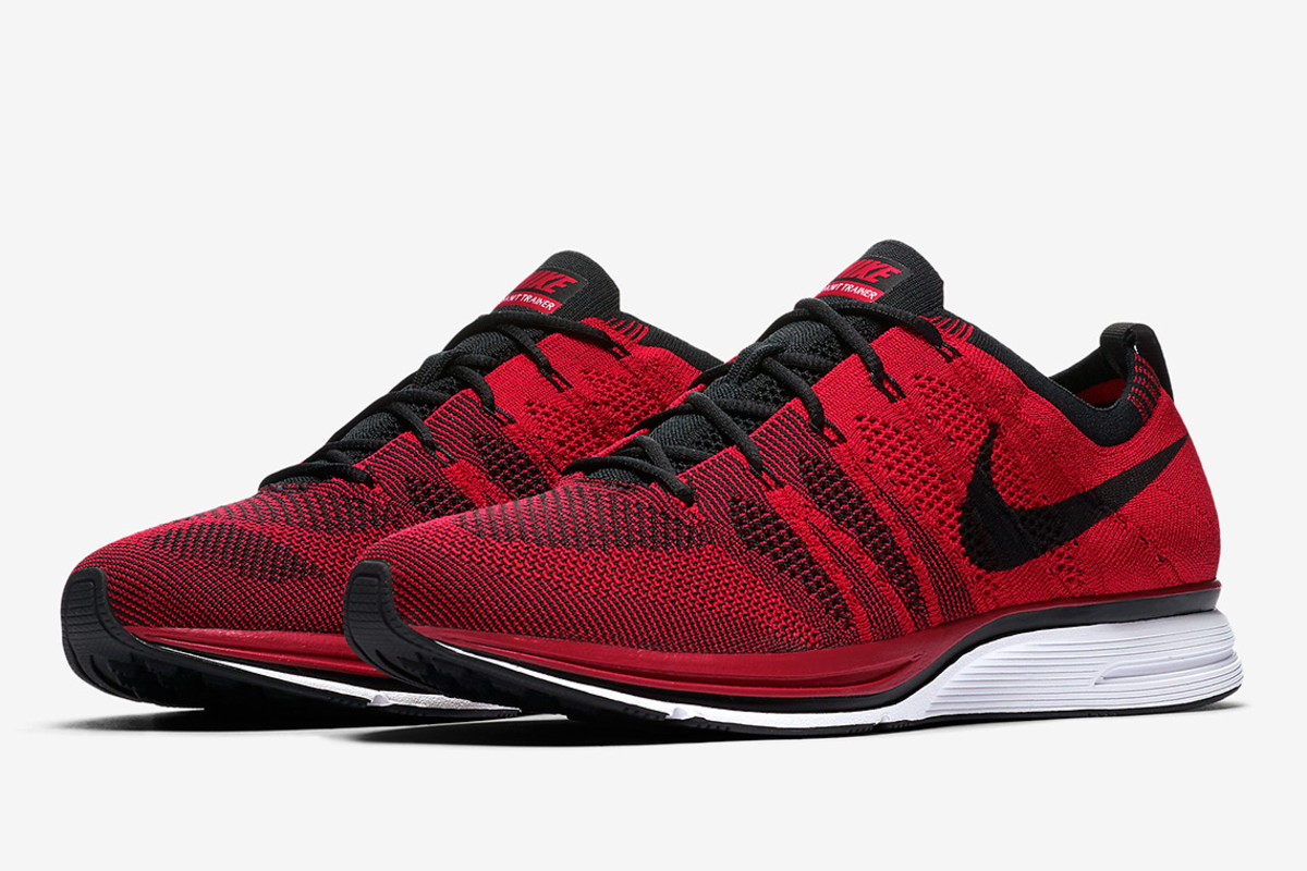 official photos fbef6 2621e Nike Is Set to Launch the Flyknit Trainer in University Red ...