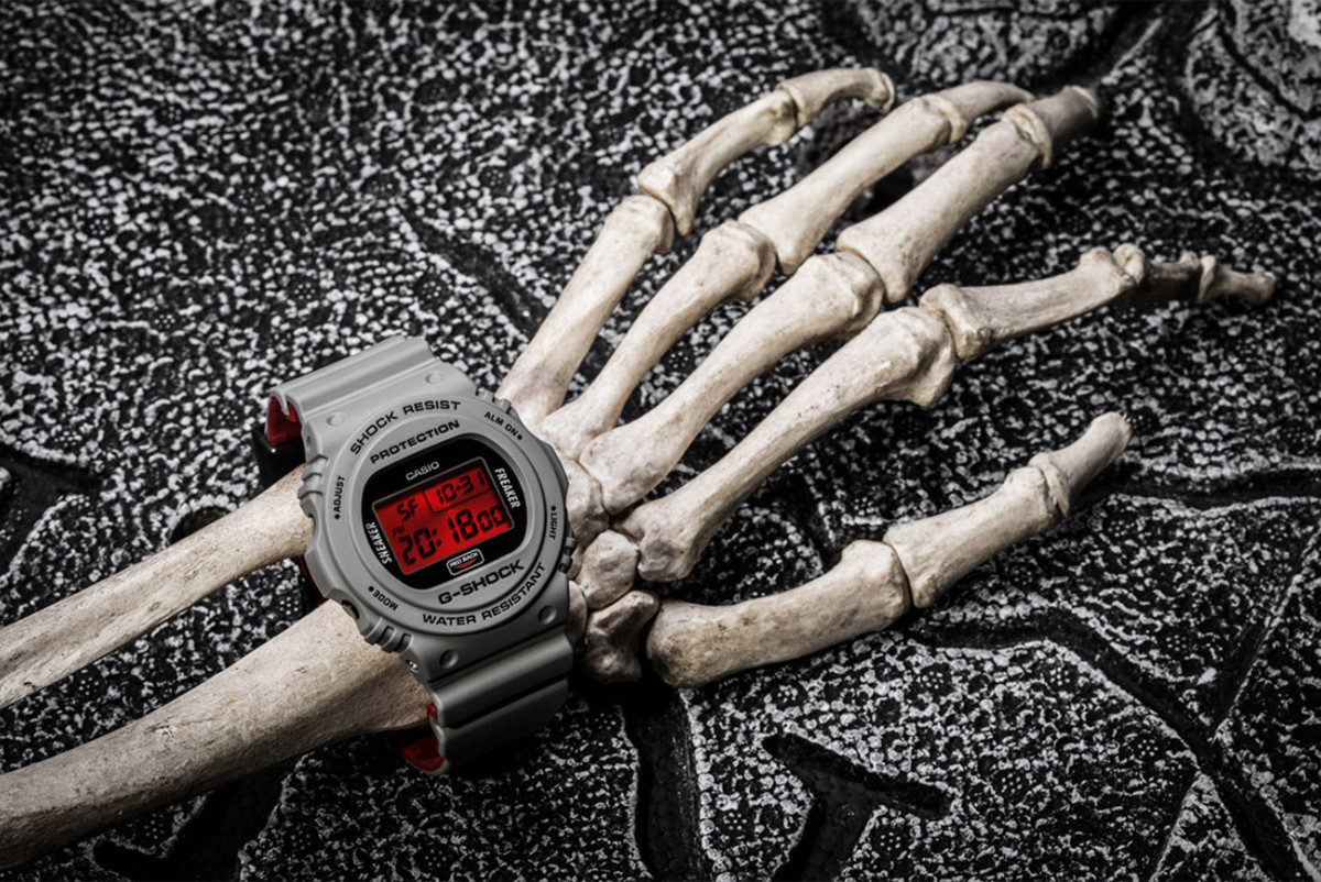 """Sneaker Freaker and G-SHOCK Debut the DW-5700 """"Redback"""""""
