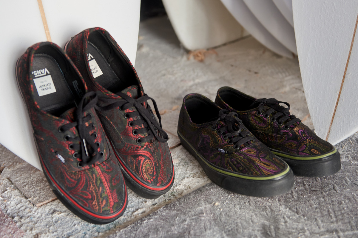 6ff238933f1 Opening Ceremony Drapes the Vans Authentic in an Ornate Paisley ...