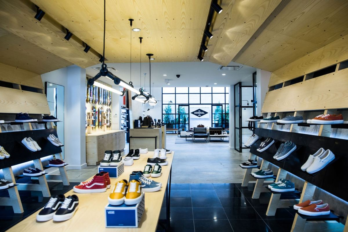 Take a look inside the general by vans store in for Craft stores in brooklyn