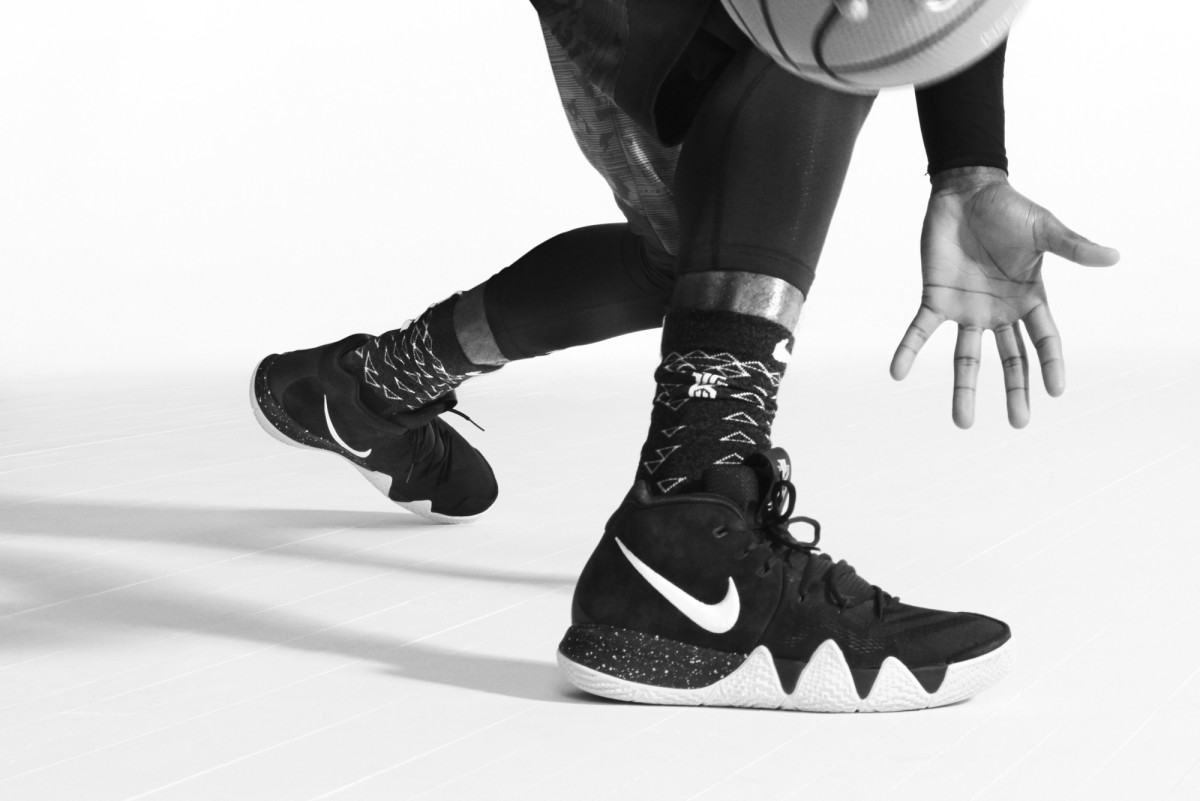 buy popular 90f89 faa36 official photos 87eb1 ec904 nike kyrie 4 black white on foot ...